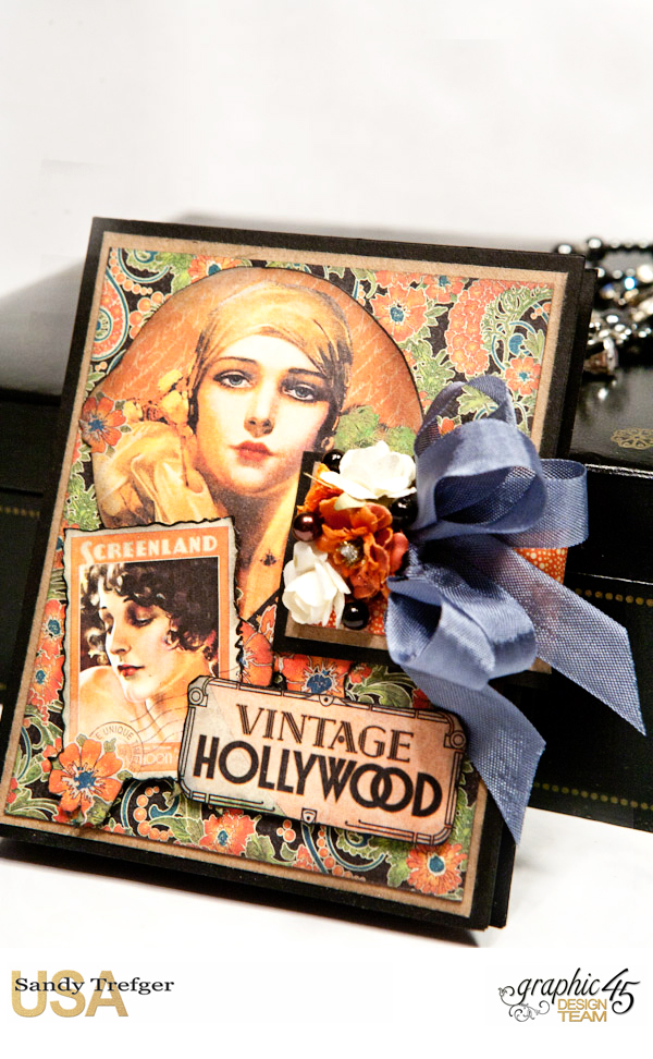 Passport Mini Album  Vintage Hollywood  Tutorial by Sandy Trefger  Product by Graphic 45  Photo 007