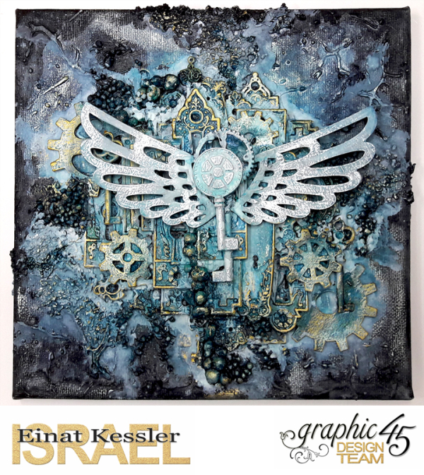 Mixed media Canvas  Staples  by Einat Kessler  product by Graphic 45  photo 3