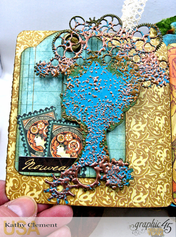 Mixed Media Steampunk Tag Album Tutorial  Steampunk Debutante  by Kathy Clement Product by Graphic 45  Photo 24