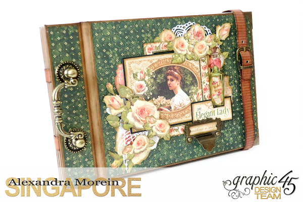 Mini Album  A Portrait of a Lady  Tutorial by Alexandra Morein  Product by Graphic 45  Photo 2