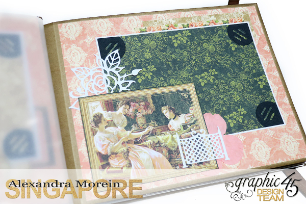 Mini Album  A Portrait of a Lady  Tutorial by Alexandra Morein  Product by Graphic 45  Photo 7