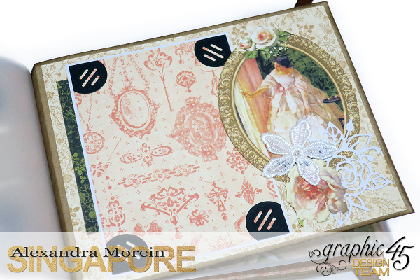 Mini Album  A Portrait of a Lady  Tutorial by Alexandra Morein  Product by Graphic 45  Photo 15