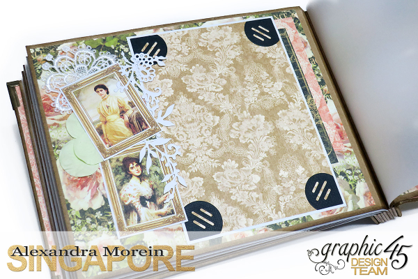 Mini Album  A Portrait of a Lady  Tutorial by Alexandra Morein  Product by Graphic 45  Photo 16