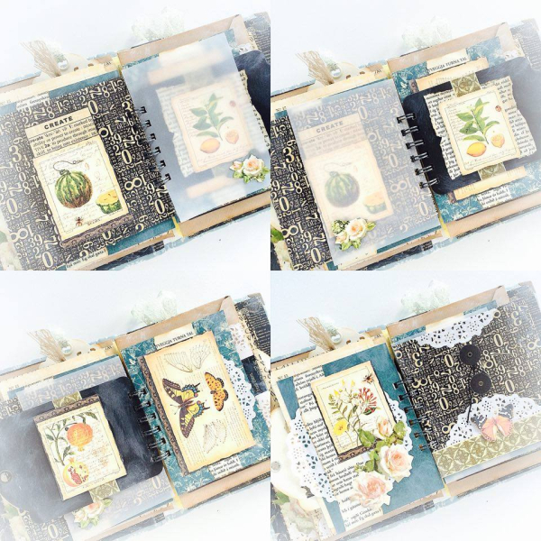 Nature Sketchbook handmade album for Graphic 45  by Aneta Matuszewska  photo 10