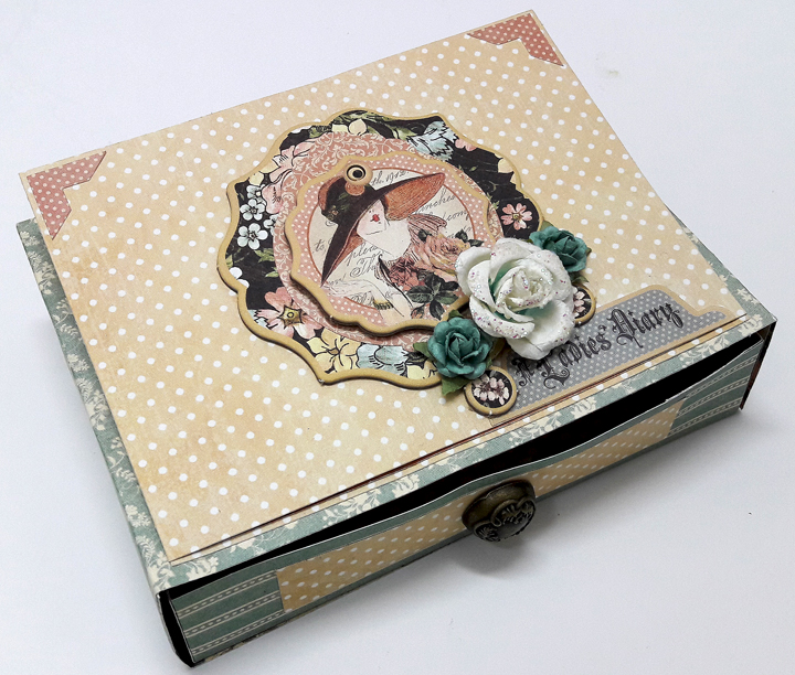 Easel Drawer Box Card  A Ladies' Diary  by Einat Kessler  product by graphic 45  photo 1