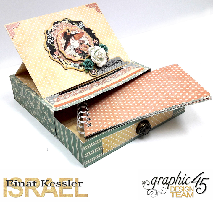 Easel Drawer Box Card  A Ladies' Diary  by Einat Kessler  product by graphic 45  photo 3