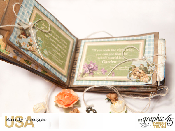Paper Bag Mini Album  Secret Garden  Tutorial by Sandy Trefger  Product by Graphic 45  Photo 006