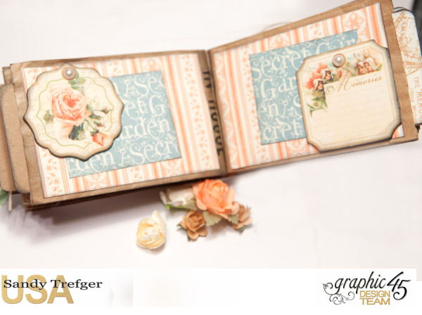 Paper Bag Mini Album  Secret Garden  Tutorial by Sandy Trefger  Product by Graphic 45  Photo 008