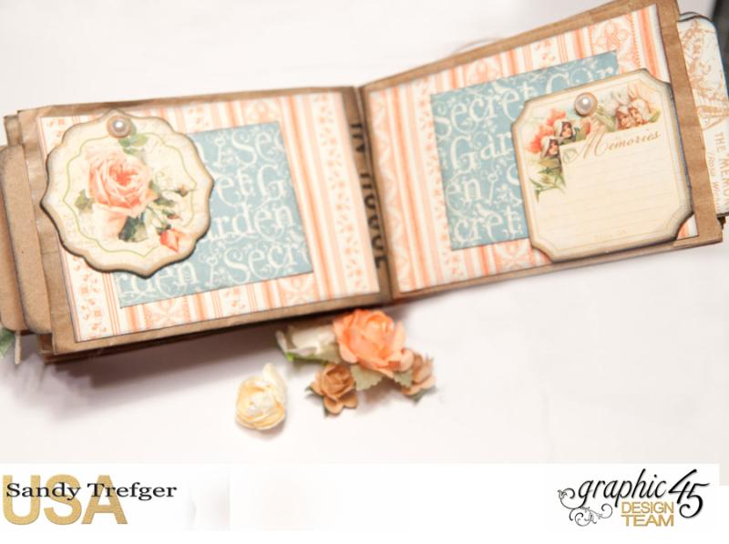 Paper Bag Mini Album  Secret Garden  Tutorial by Sandy Trefger  Product by Graphic 45  Photo 008
