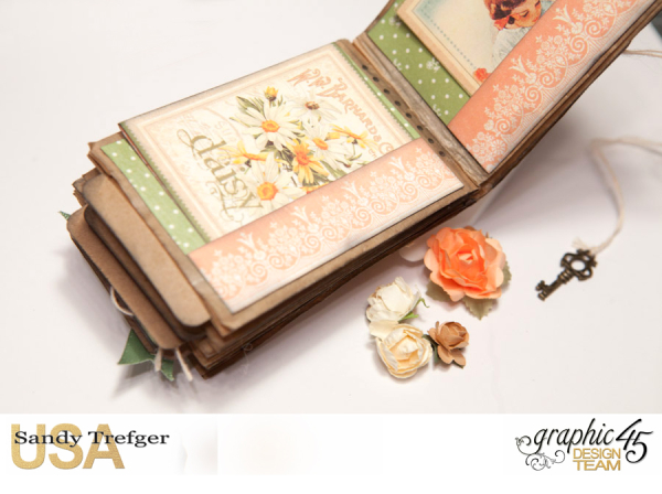 Paper Bag Mini Album  Secret Garden  Tutorial by Sandy Trefger  Product by Graphic 45  Photo 010
