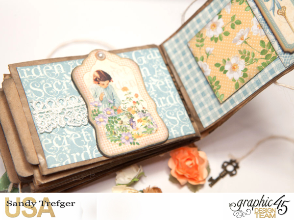 Paper Bag Mini Album  Secret Garden  Tutorial by Sandy Trefger  Product by Graphic 45  Photo 011