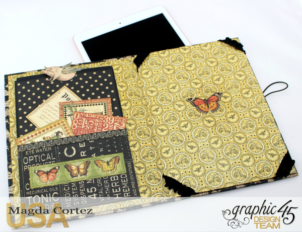 DIY iPad Case Tutorial- Olde Curiosity Shoppe - By Magda Cortez- Product by Graphic 45- Photo 03 of 09 - With a Tutorial