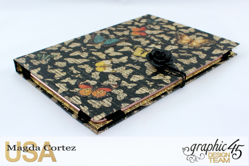 DIY iPad Case Tutorial- Olde Curiosity Shoppe - By Magda Cortez- Product by Graphic 45- Photo 09 of 09 - With a Tutorial
