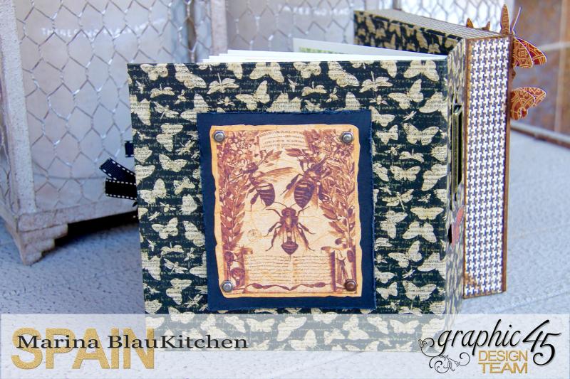 Shadow box album Botanicabella Tutorial by Marina Blaukitchen Product by Graphic 45 photo 5