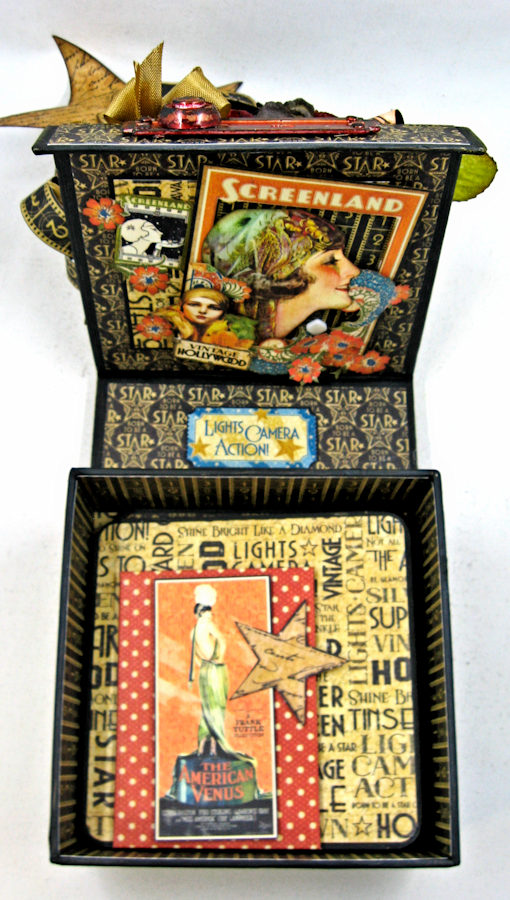 Born to Be a Star Upcycled Photo Box  Vintage Hollywood  by Kathy Clement  Product by Graphic 45  Photo 15