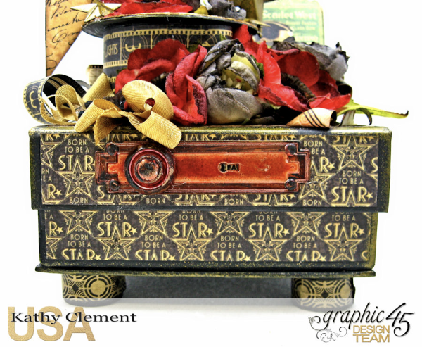 Born to Be a Star Upcycled Photo Box  Vintage Hollywood  by Kathy Clement  Product by Graphic 45  Photo 14