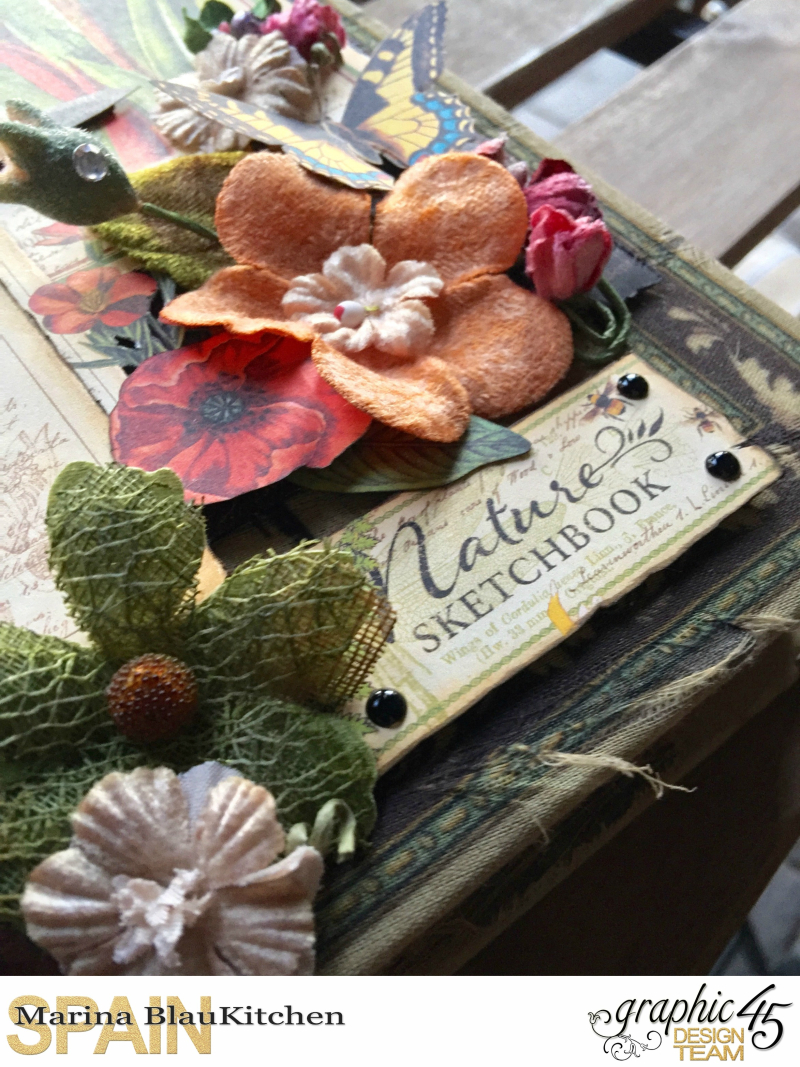 Upcycle Book Box Nature Sketchbook Tutorial by Marina Blaukitchen Product by Graphic 45 photo 6
