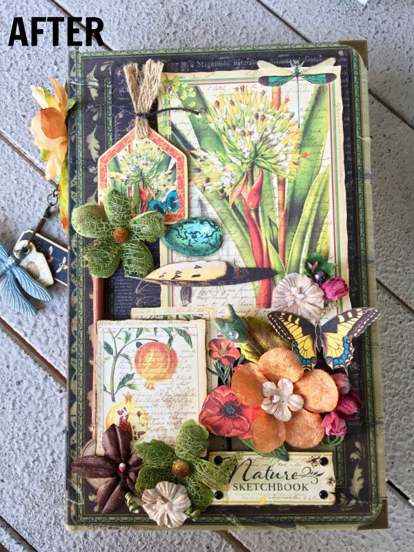 Upcycle Book Box Nature Sketchbook Tutorial by Marina Blaukitchen Product by Graphic 45 photo 3