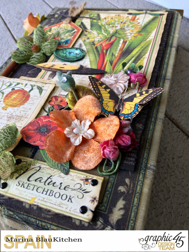 Upcycle Book Box Nature Sketchbook Tutorial by Marina Blaukitchen Product by Graphic 45 photo 10