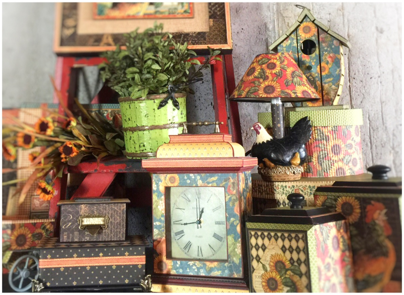 French Country Lamp  Boxes Graphic 45  Diane Schultz  Deluxe Collector's Edition