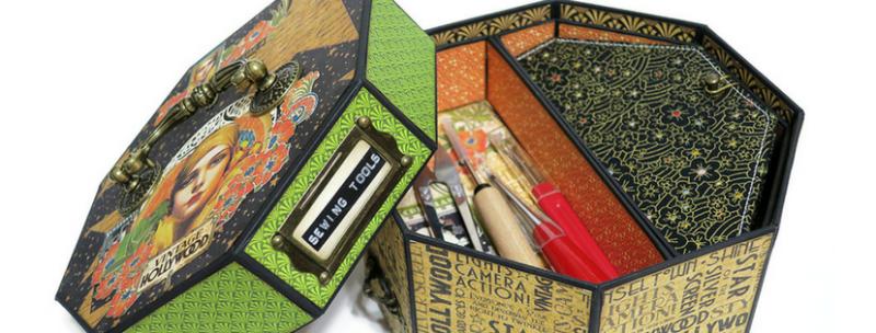 Vintage Hollywood  Sewing Box  Organizer  DIY  Graphic 45  Alexandra Morein