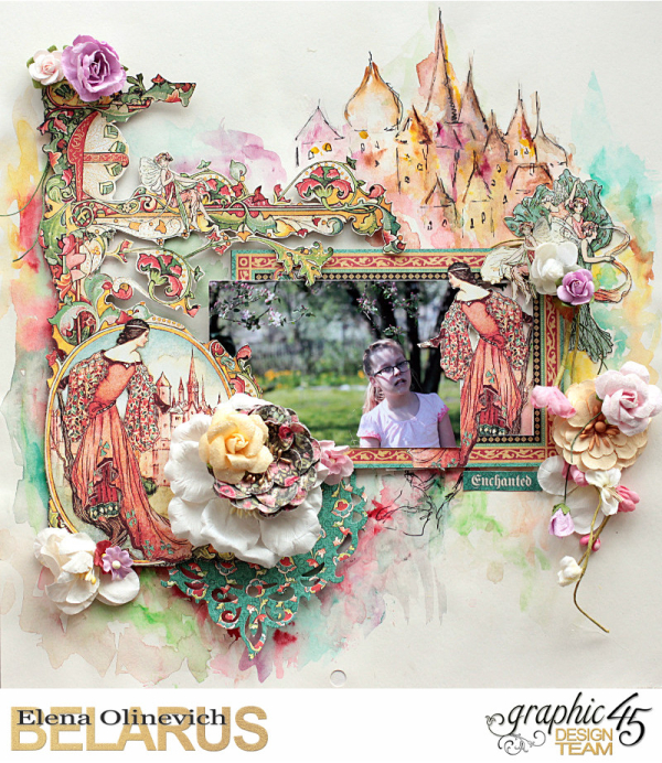 Graphic 45  Enchanted Forest  Elena Olinevich  Layout  Castel Top Layout 2