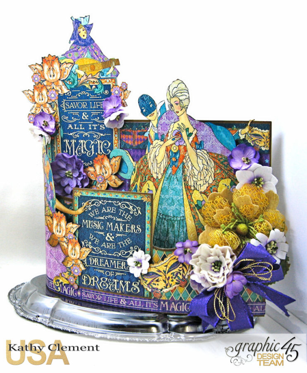 Midnight Masquerade Bendi Card  Midnight Masqureade  by Kathy Clement  Product by Graphic 45  Photo 4