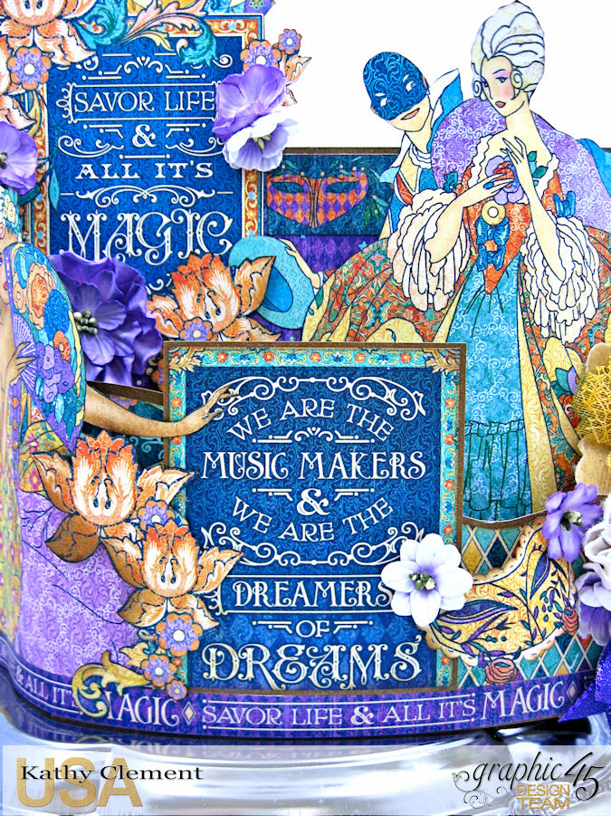 Midnight Masquerade Bendi Card  Midnight Masqureade  by Kathy Clement  Product by Graphic 45  Photo 7