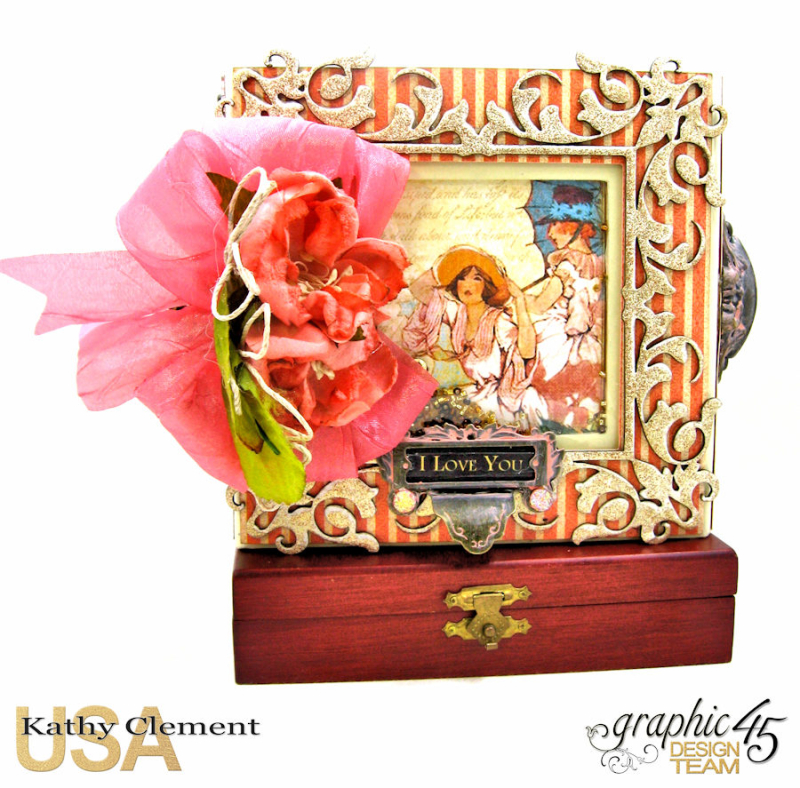 Tea Time Notecards in a Shaker Box A Place in Time by Kathy Clement Product by Graphic 45 Photo 1