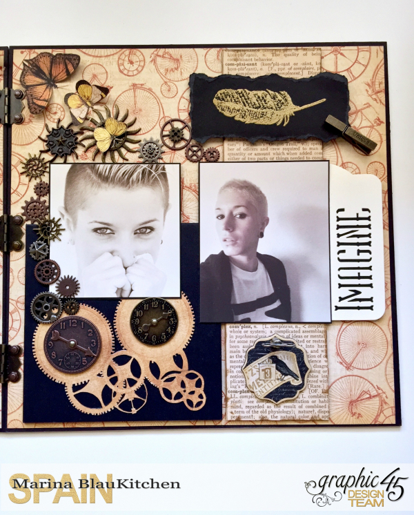 Double LO Olde Curiosity Shoppe Tutorial by Marina Blaukitchen Product by Graphic 45 photo 5