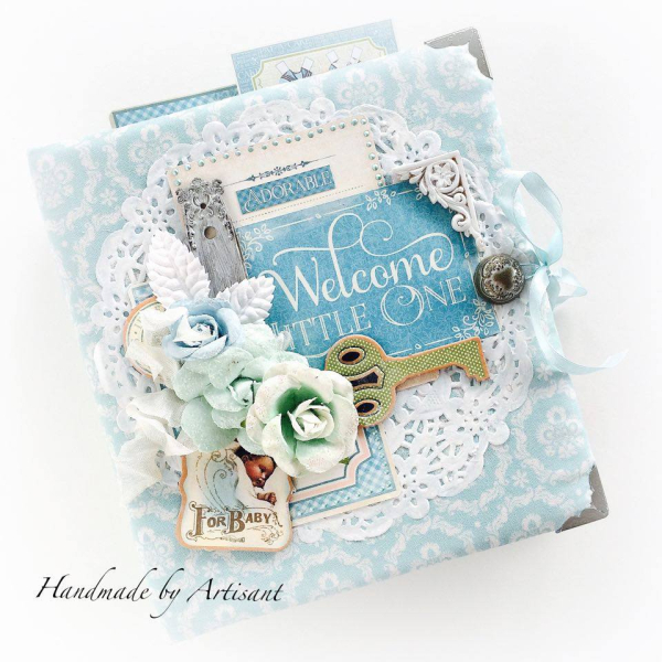 Aneta  Welcome Baby  Album  Graphic 45  Precious Memories  2