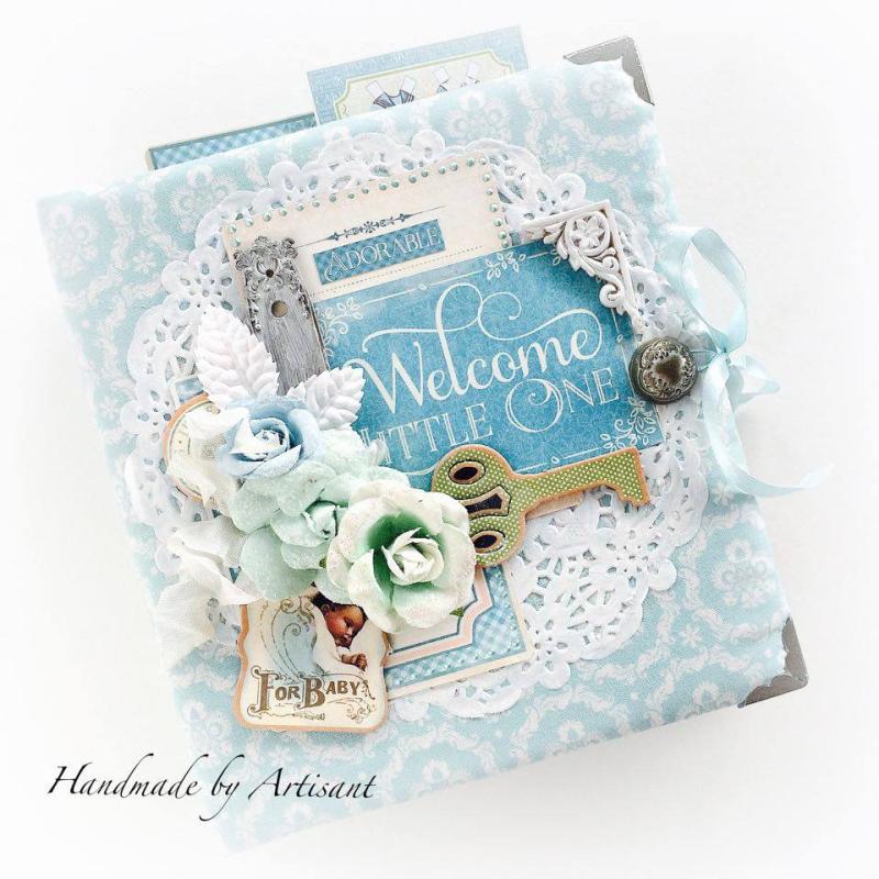Aneta  Welcome Baby  Album  Graphic 45  Precious Memories  2
