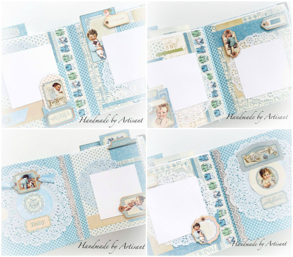 Aneta  Graphic 45  Album  Precious Memories  Collage  4