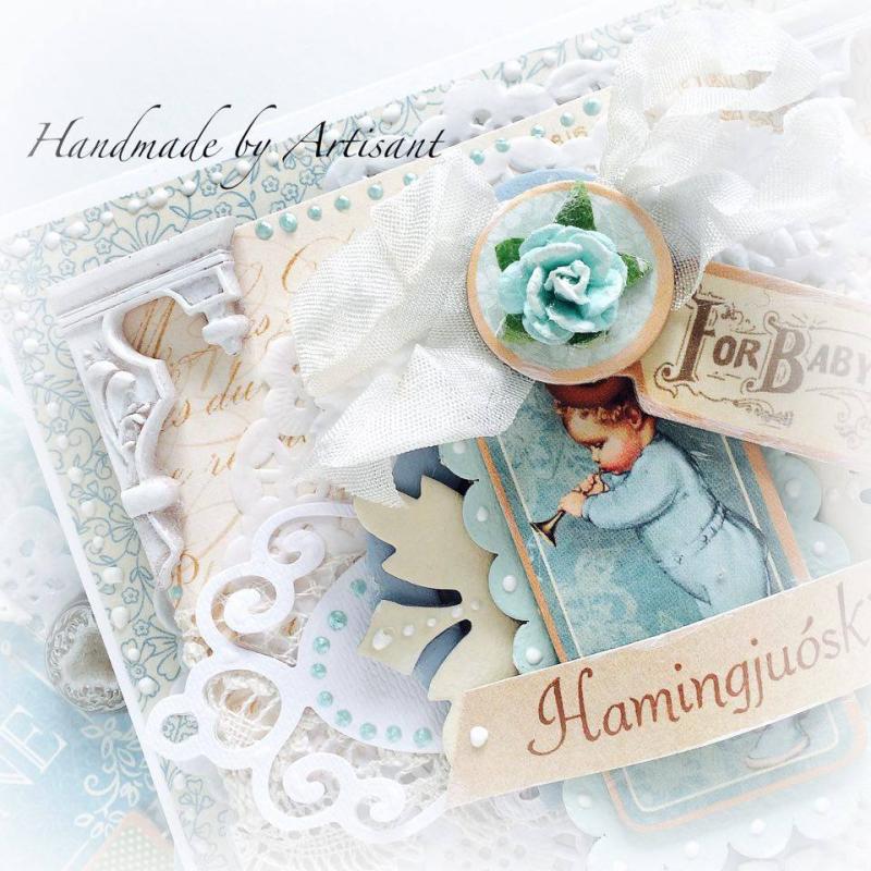 Aneta  Card  For Baby  Close Up  Precious Memories  Graphic 45  1