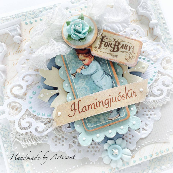 Aneta  Card  For Baby  Close Up  Precious Memories  Graphic 45  1