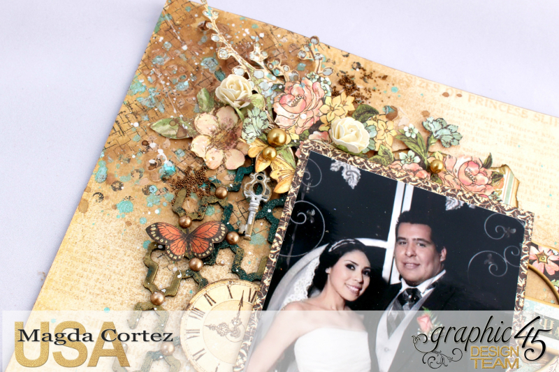 Picture Perfect-Double Layout  A Ladies' Diary  By Magda Cortez  Product By Graphic 45 Photo 04 of 08 with Tutorial