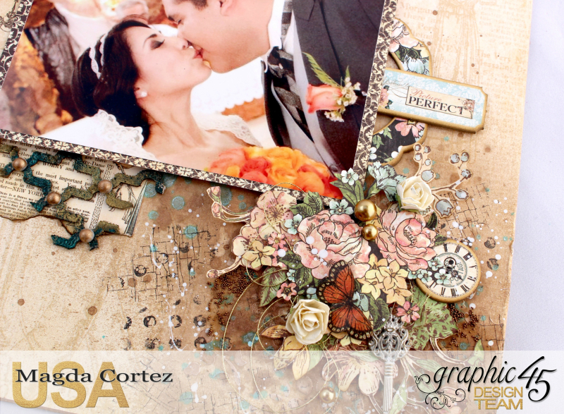 Picture Perfect-Double Layout  A Ladies' Diary  By Magda Cortez  Product By Graphic 45 Photo 06 of 08 with Tutorial