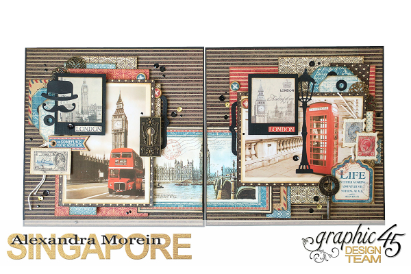 Double Layout  CityScapes  Project by Alexandra Morein  Product by Graphic 45  Photo 1
