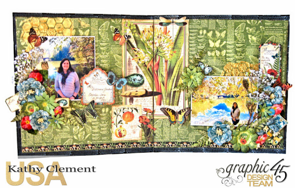 Natural Beauty Double Layout Nature Sketchbook by Kathy Clement Product by Graphic 45 Photo 1