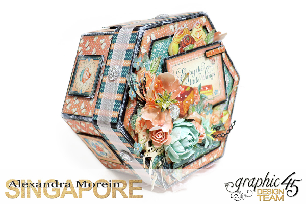 Cafe Parisian Hexagon Box  Project by Alexandra Morein  Product by Graphic 45  Photo 2