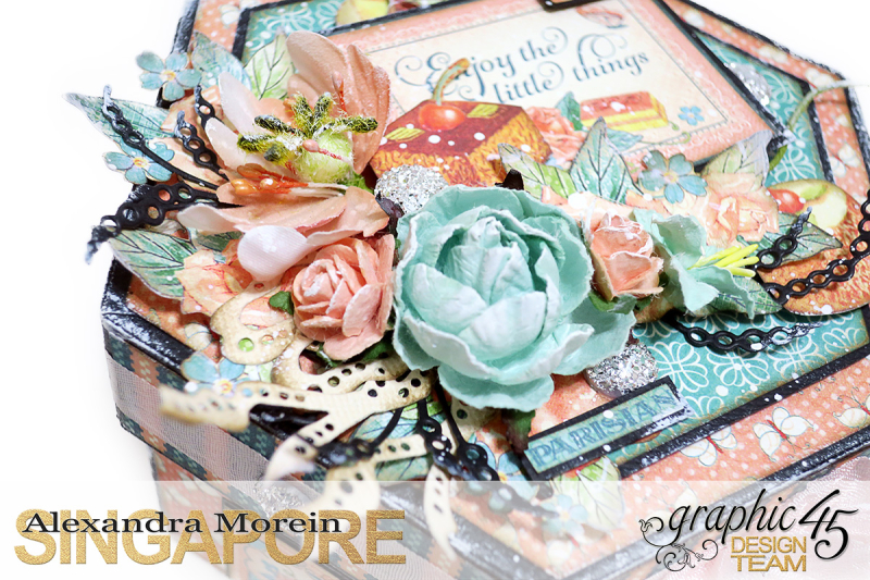 Cafe Parisian Hexagon Box  Project by Alexandra Morein  Product by Graphic 45  Photo 5