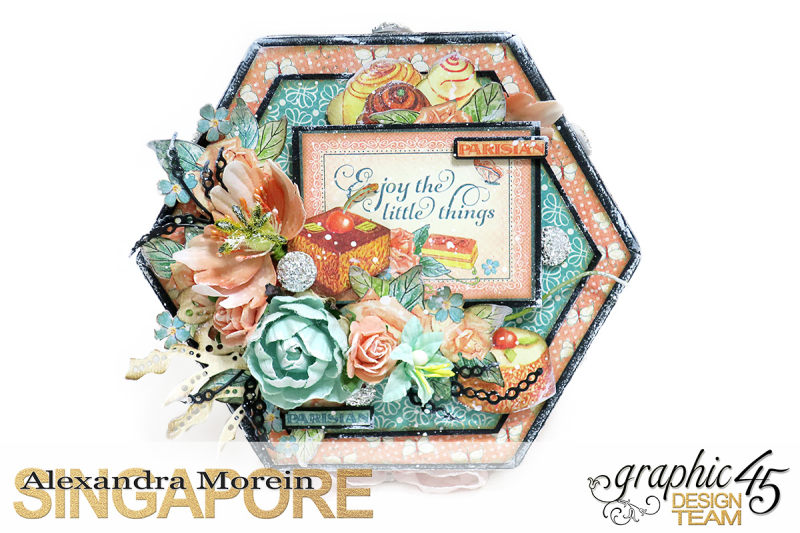 Cafe Parisian Hexagon Box  Project by Alexandra Morein  Product by Graphic 45  Photo 3