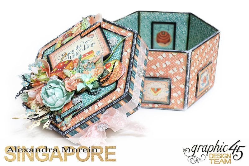 Cafe Parisian Hexagon Box  Project by Alexandra Morein  Product by Graphic 45  Photo 7
