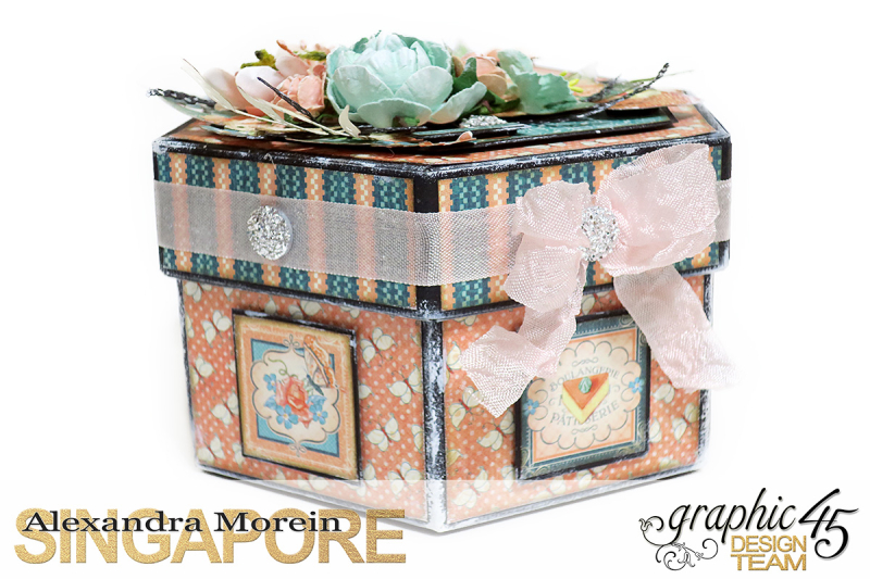 Cafe Parisian Hexagon Box  Project by Alexandra Morein  Product by Graphic 45  Photo 4