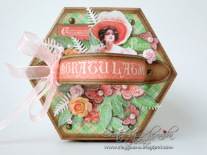 Cafe Parisian  Hexagon Box  Cards  Graphic 45  Alexandra Morein  3