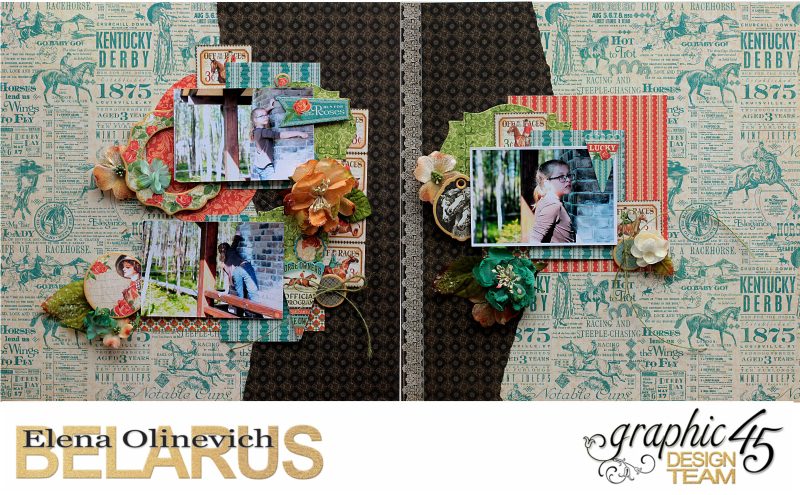 Double Layout  Off to the Races  by Elena Olinevich  product by Graphic45  photo1