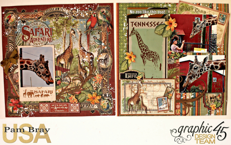 Graphic 45 Safari Adventure Double Layout with Tutorial by Pam Bray - Photo 1_5126