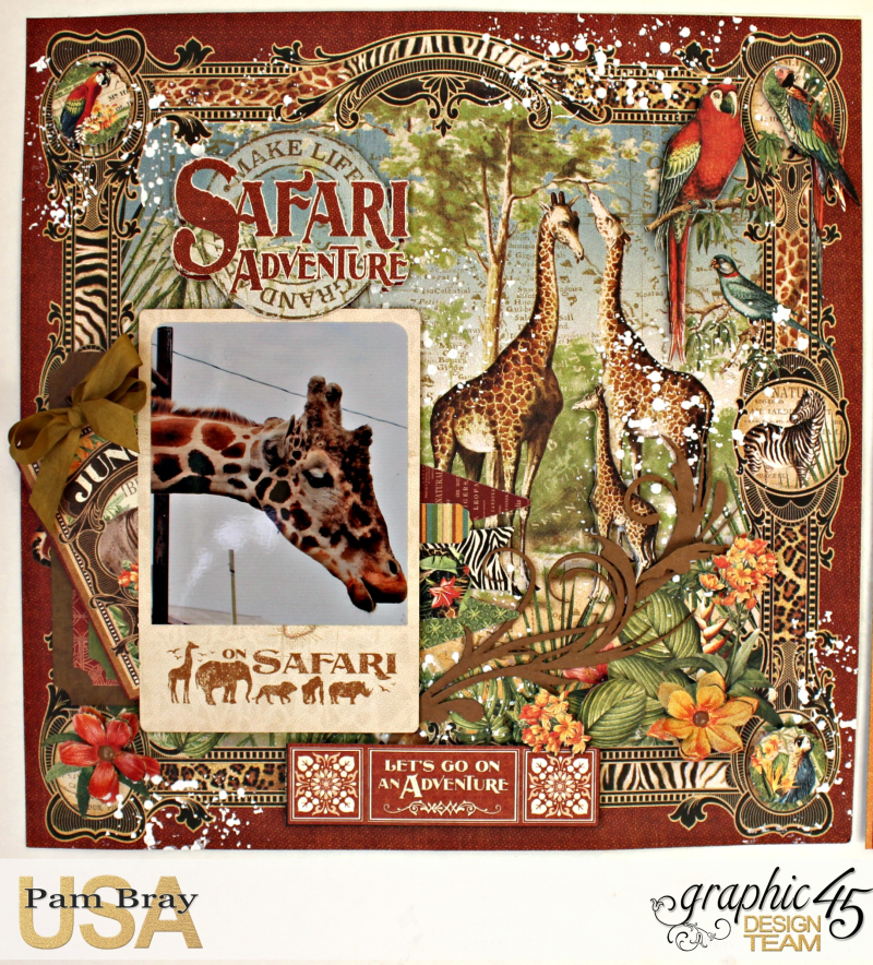 Graphic 45 Safari Adventure Double Layout with Tutorial by Pam Bray - Photo 2_5115