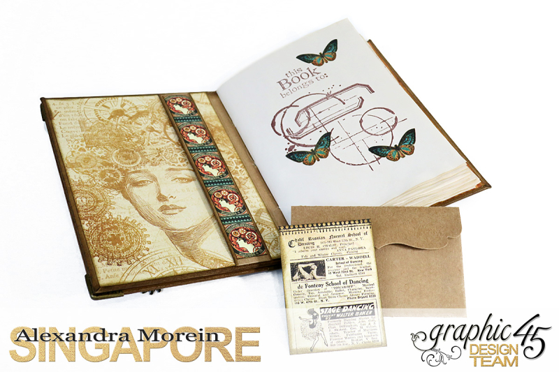 DIY Handbound Notebook  Steampunk Debutante  Project by Alexandra Morein  Product by Graphic 45  Photo 6