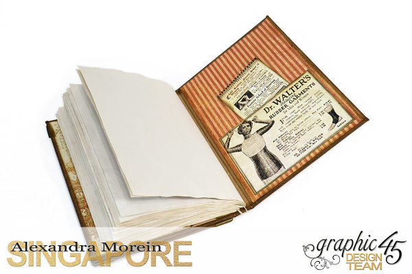 DIY Handbound Notebook  Steampunk Debutante  Project by Alexandra Morein  Product by Graphic 45  Photo 2